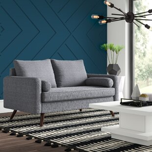 Mcelhaney 58.7 Square Arm Loveseat by Mercury Row