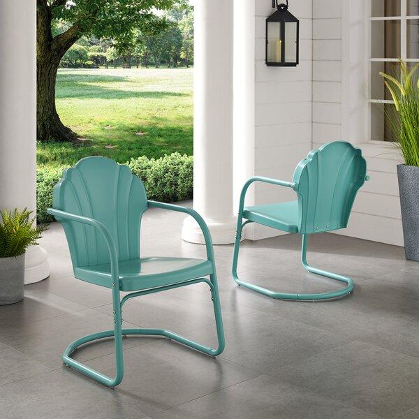 Karim Metal Patio Dining Chair (Set Of 2) By Wrought Studio
