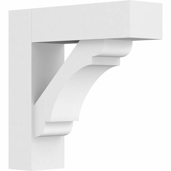 Olympic Architectural Grade PVC Bracket with Block Ends by Ekena Millwork