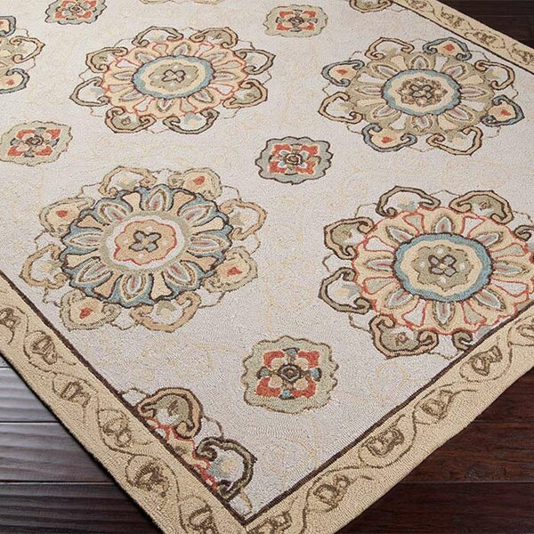 Vickery Gold/Tan Indoor/Outdoor Area Rug by Darby Home Co