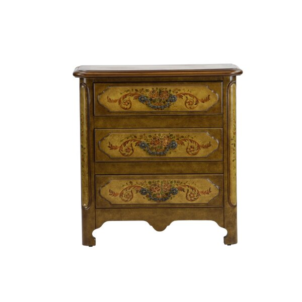 Cephas Hand Painted 3 Drawer Accent Chest by Fleur De Lis Living Fleur De Lis Living