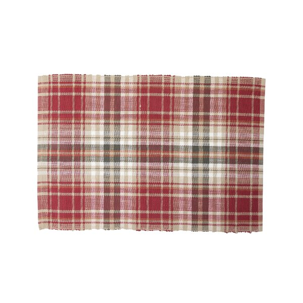 Jenine Plaid Placemat (Set of 6) by August Grove