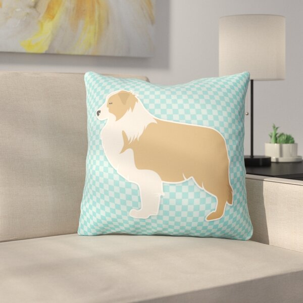 Border Collie Square Indoor/Outdoor Throw Pillow by East Urban Home