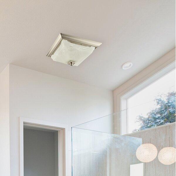 110 CFM Bathroom Fan with Light by Lift Bridge Kit