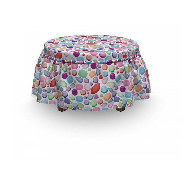 Diamonds Stones Design 2 Piece Box Cushion Ottoman Slipcover Set By East Urban Home