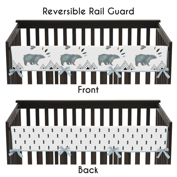 Bear Mountain Crib Rail Guard Cover by Sweet Jojo Designs