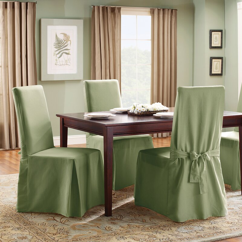Sure Fit Cotton Duck Full Length Dining Room Chair Slipcover Reviews
