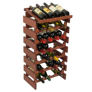 Dakota 28 Bottle Floor Wine Rack by Wooden Mallet