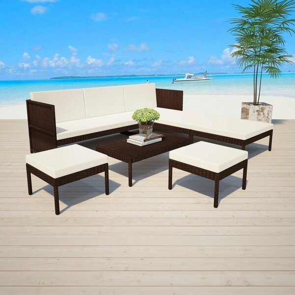 Wallsend Garden 6 Piece Sectional Seating Group With Cushions By Ivy Bronx