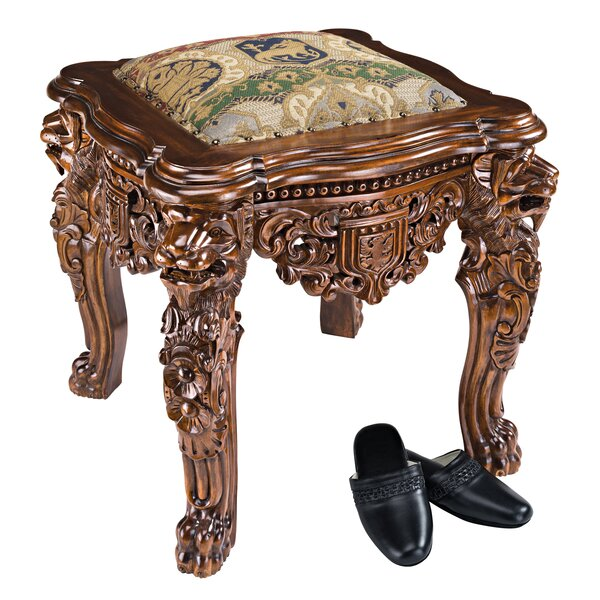 The Lord Raffles Lion Leg Gothic Stool by Design Toscano