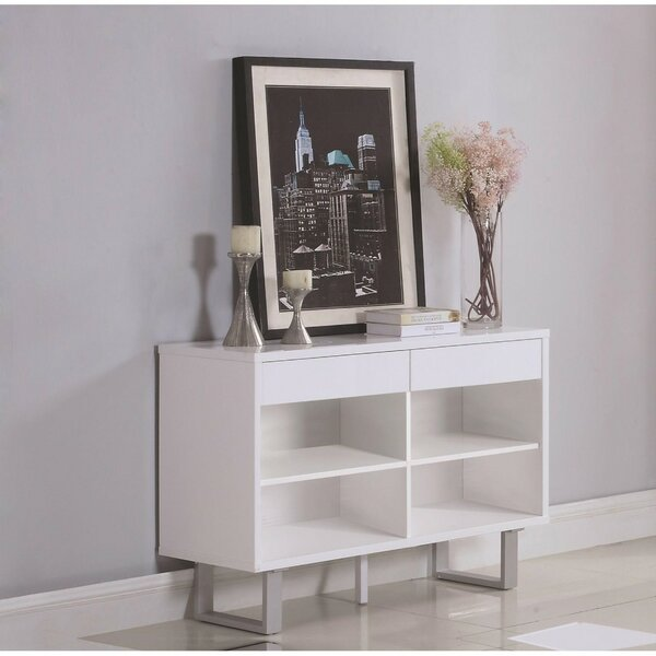 Pineland Contemporary Wooden Console Table By Ivy Bronx