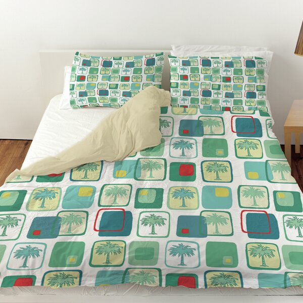 Deco Palm Duvet Cover by Manual Woodworkers & Weavers