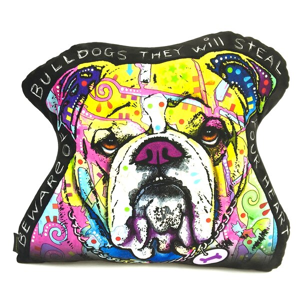 English Bulldog Shaped Throw Pillow by East Urban Home