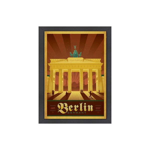 Berlin Framed Vintage Advertisement by Americanflat