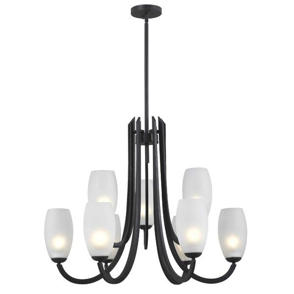 Bleecker 9-Light Shaded Chandelier by Wildon Home ®