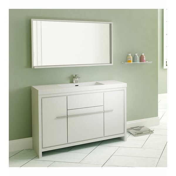 Galvin 47 Single Bathroom Vanity Set with Mirror