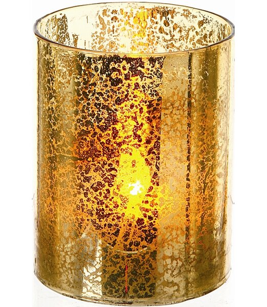 LED Glass Candle (Set of 4) by Regency International