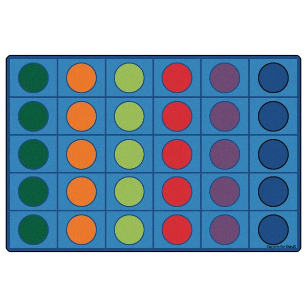 Blue Seating Circles Kids Rug by Kids Value Rugs