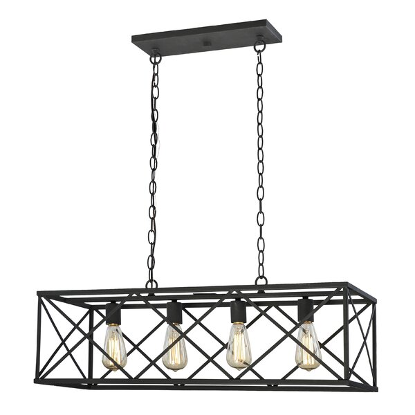 Darek 4 - Light Lantern Rectangle Chandelier by 17 Stories 17 Stories