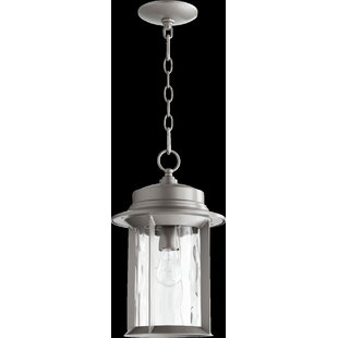 Osmond 1-Light Glass Shade Outdoor Hanging Lantern By Three Posts Outdoor Lighting
