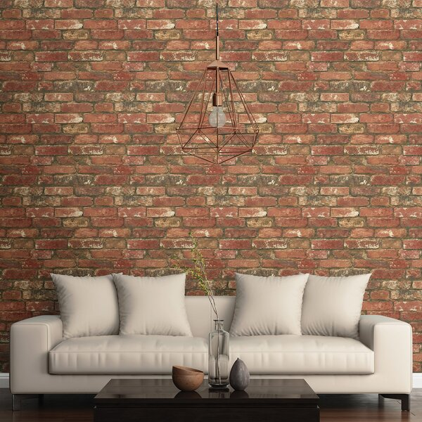 Best Brick Wallpaper Ideas, Red Brick Wallpaper, Textured Brick Wallpaper