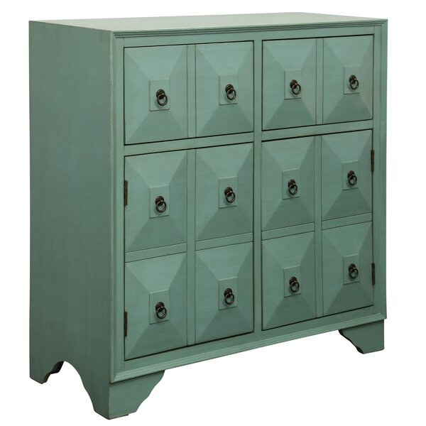 Kathleen 2 Door 2 Drawer Metal Glides Accent Cabinet by August Grove