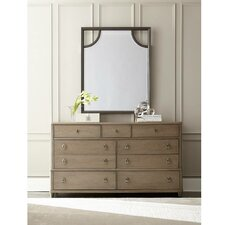 Virage 9 Drawer Dresser with Mirror by Stanley Furniture