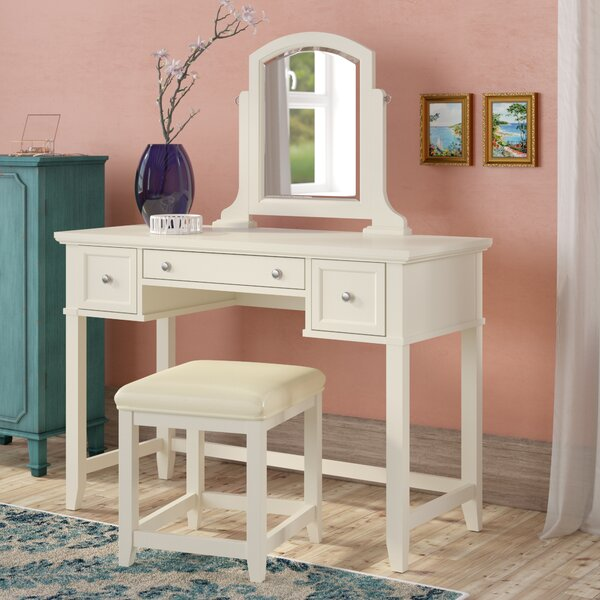 Manette Vanity Set with Mirror by Beachcrest Home