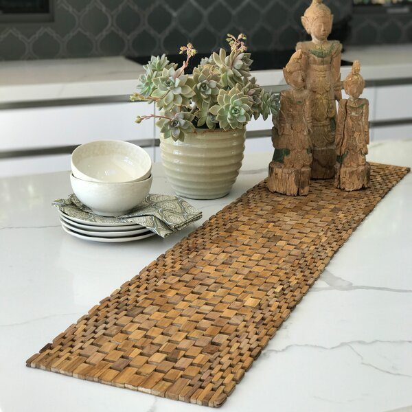 Recycled Teak Table Runner by Hip-O Modern Living
