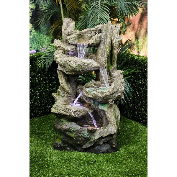 Fiberglass Tiered Flowing Fountain by Alpine