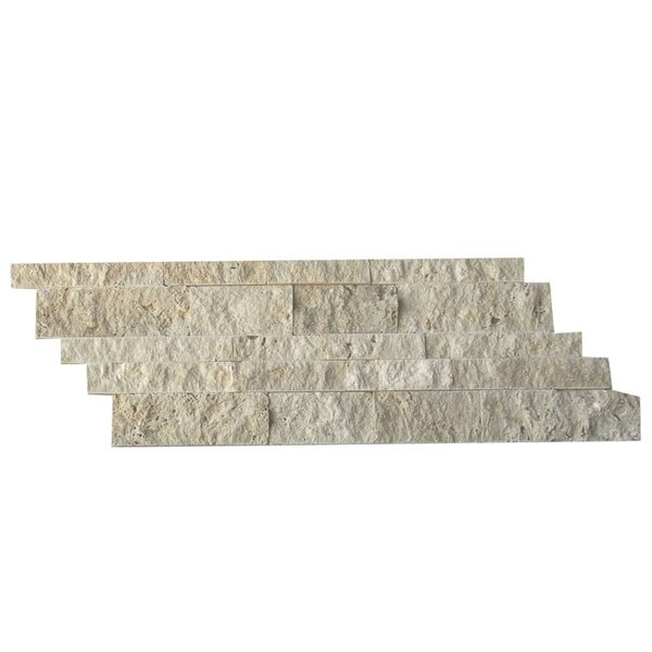 Natural Stone Mosaic Splitface Tile in Beige by QDI Surfaces