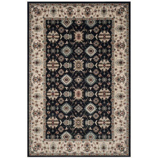 Bridgeport Navy/Creme Area Rug by Charlton Home