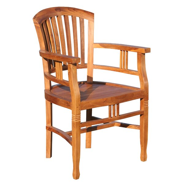 Bauman Teak Patio Dining Arm Chair by Darby Home Co