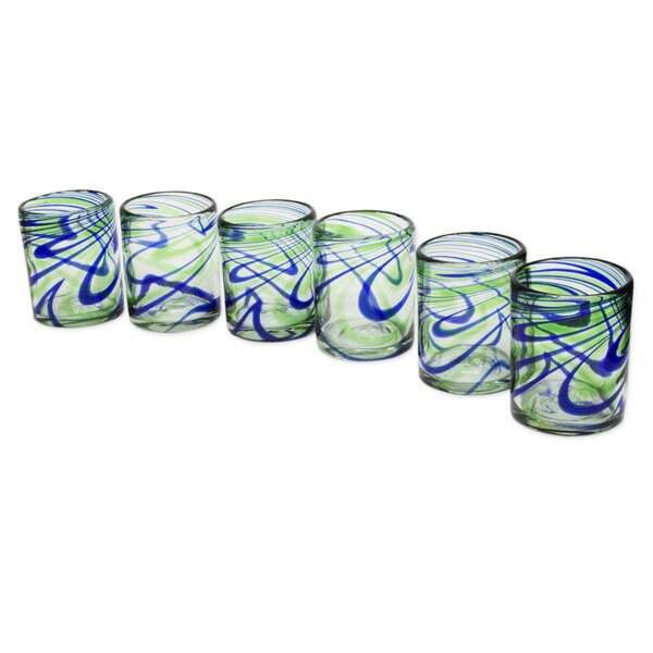 Elegant Energy 13 oz. Water Glass (Set of 6) by Novica