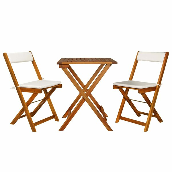 Sperling 3 Piece Bistro Set with Cushions by Highland Dunes