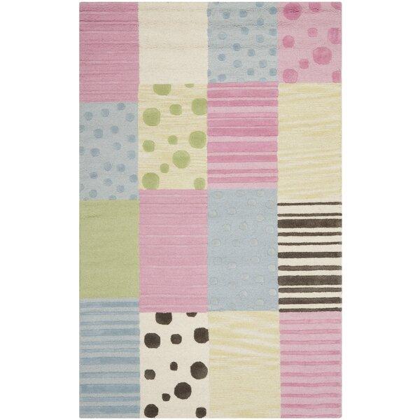Claro Blue/Pink Area Rug by Harriet Bee