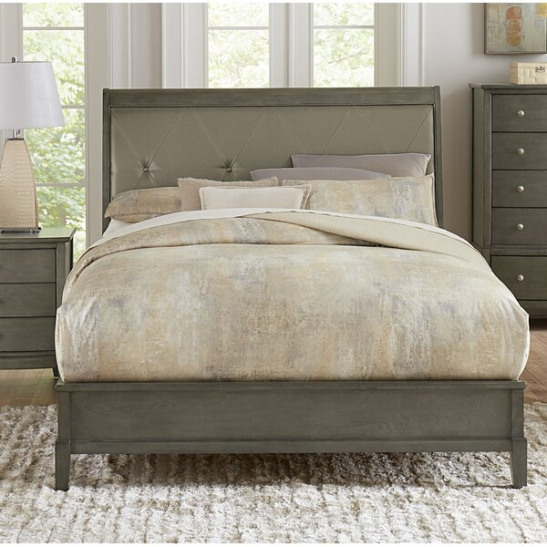 Jeffries Upholstered Standard Bed by Wrought Studio