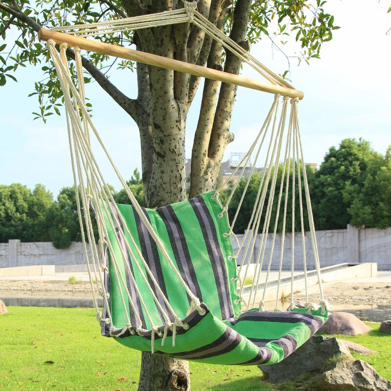 AdecoTrading Tree Hanging Suspended Indoor/Outdoor Cotton Chair ...