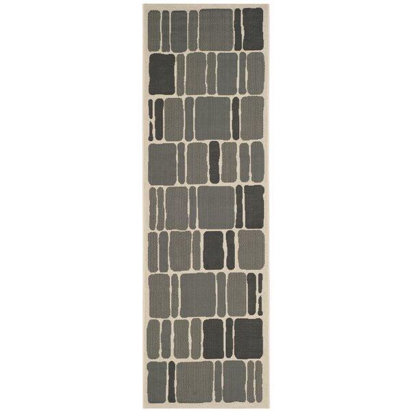 Barraza Blocks Beige/Anthracite Area Rug by Ebern Designs
