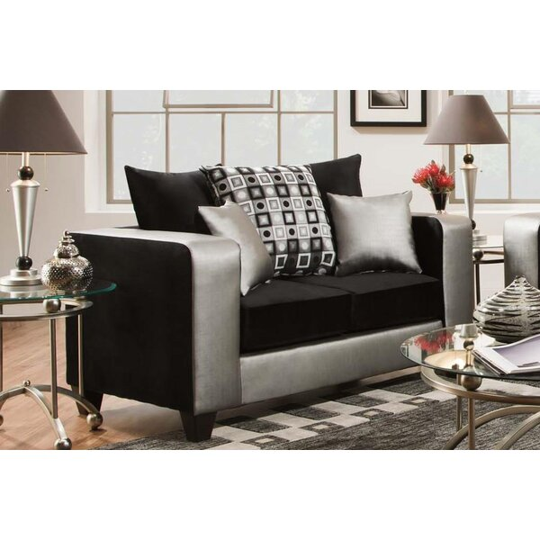 Rockleigh Shimmer Silver Loveseat by Latitude Run