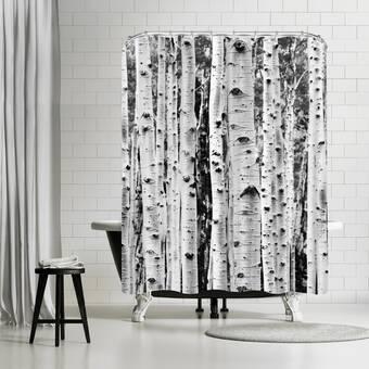 East Urban Home Explicit Design Black Orchid Single Shower Curtain Wayfair