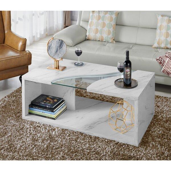 Discount Hahn Floor Shelf Coffee Table With Storage