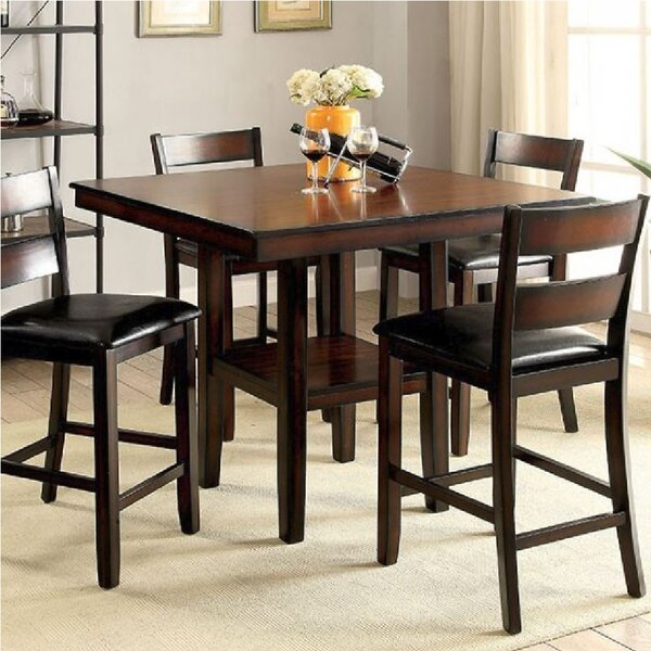 Leet 5 Piece Counter Height Dining Set by Millwood Pines