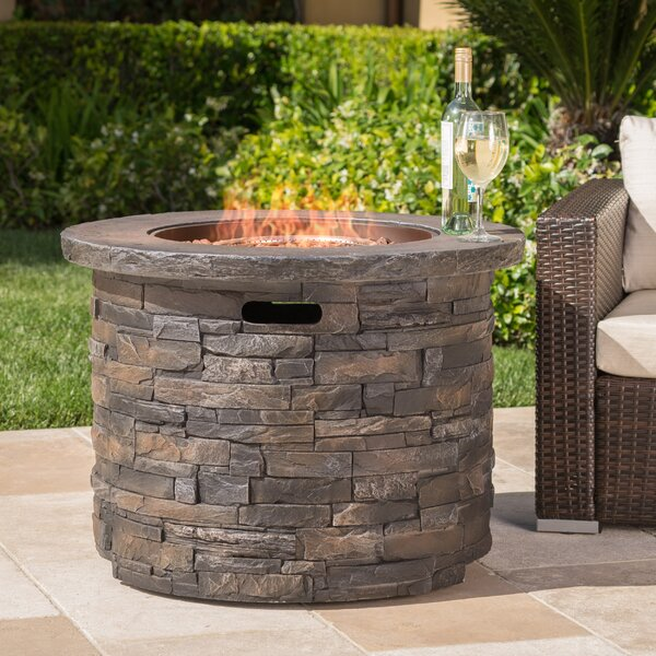 Altair Stone Propane Fire Pit Table by 17 Stories