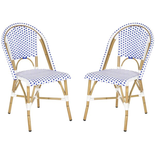 Lucia Stacking Patio Dining Chair (Set of 2) by Be