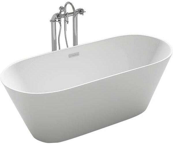 Lugano 59.1 x 29.5 Freestanding Soaking Bathtub by Kokss