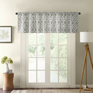 chevron and large trim accent carousel window pink rod pocket gray valance designs with