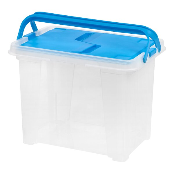 Letter Size Portable Wing Lid File Box by IRIS USA, Inc.