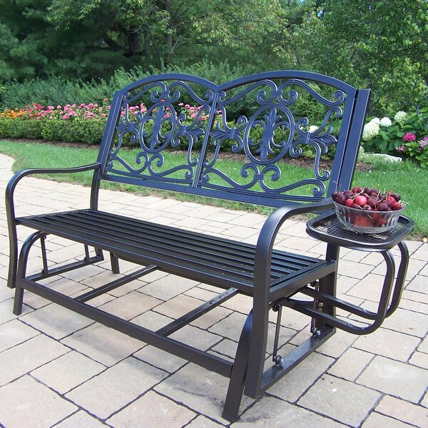 Wentzel Iron Bench by August Grove