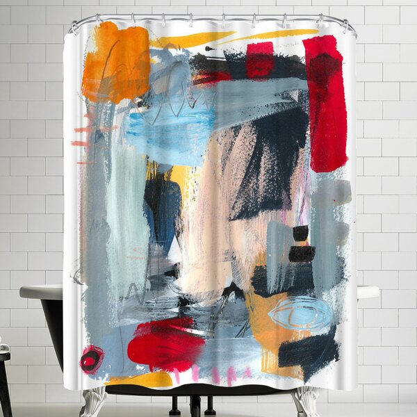 Olimpia Piccoli Summer Night Shower Curtain by East Urban Home